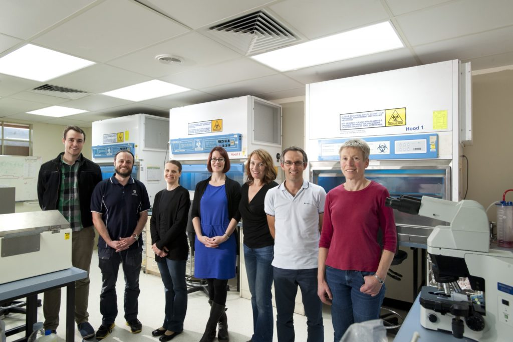 Dr Melissa Pitman (fourth from right) and the team.