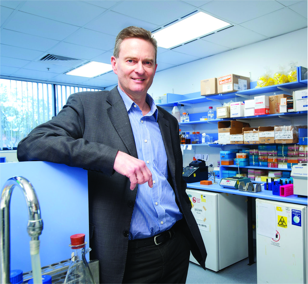 Prof Michael Brown says the impact grant funding has given his research a very exciting boost. Photo courtesy: SA Pathology